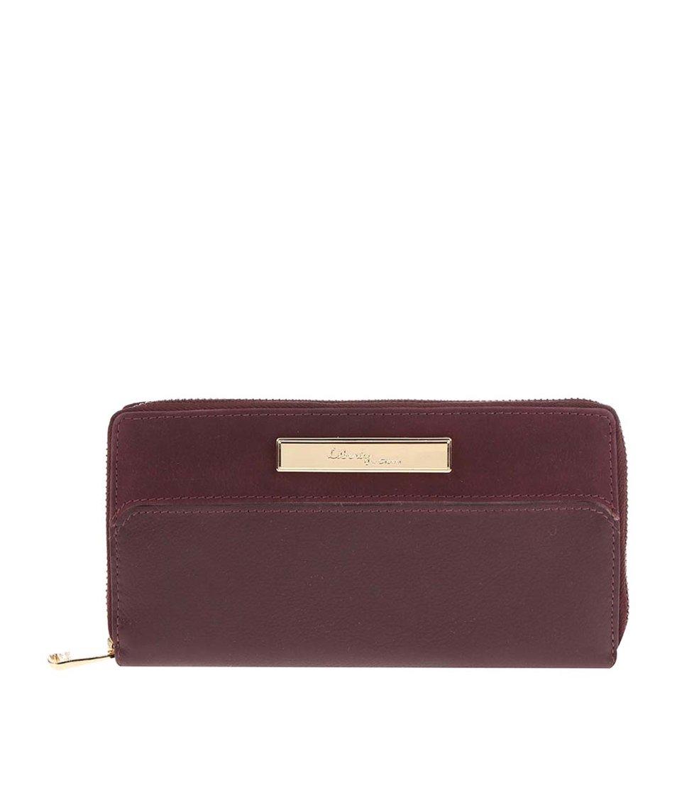 Vínová kožená peněženka Liberty by Gionni Eloise
