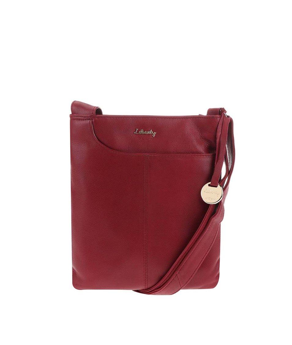 Červená kožená kabelka přes rameno Liberty by Gionni Shaula