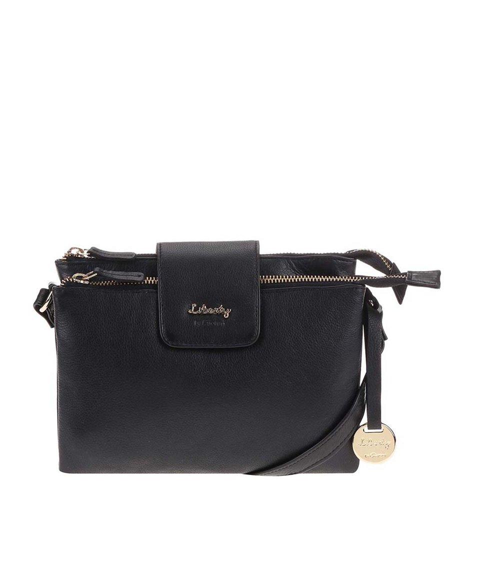 Černá kožená kabelka přes rameno Liberty by Gionni Shaula