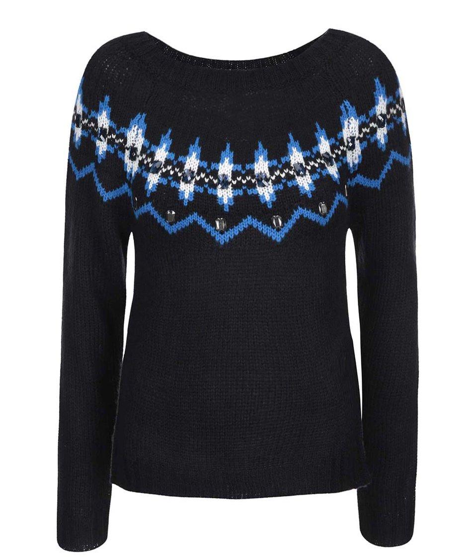 Černý svetr s lesklými detaily Brave Soul