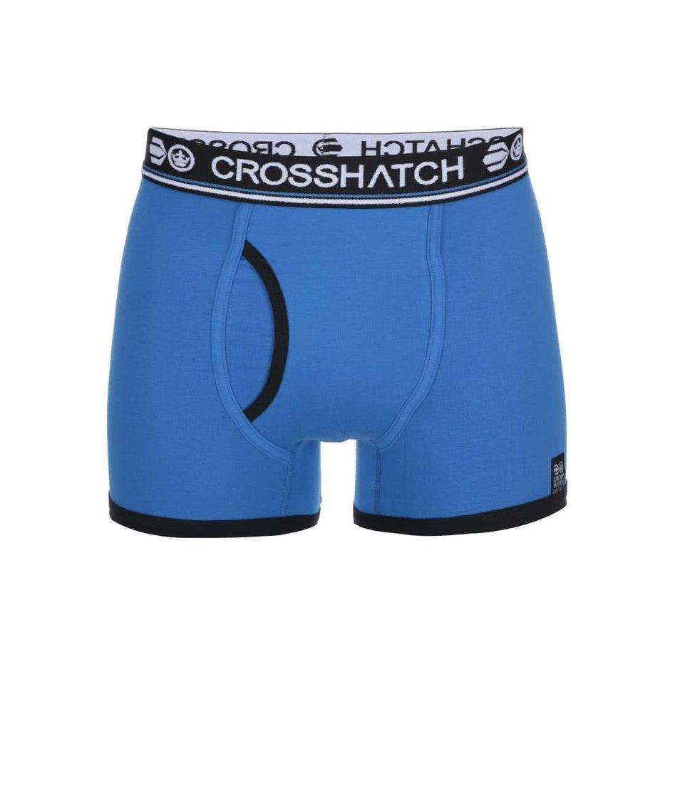 Sada dvou modrých boxerek s potiskem Crosshatch Pixflix