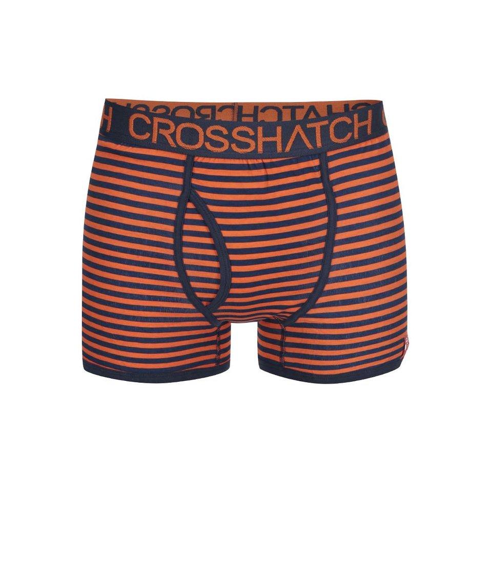 Sada dvou modro-oranžových boxerek s pruhy Crosshatch Glowsync