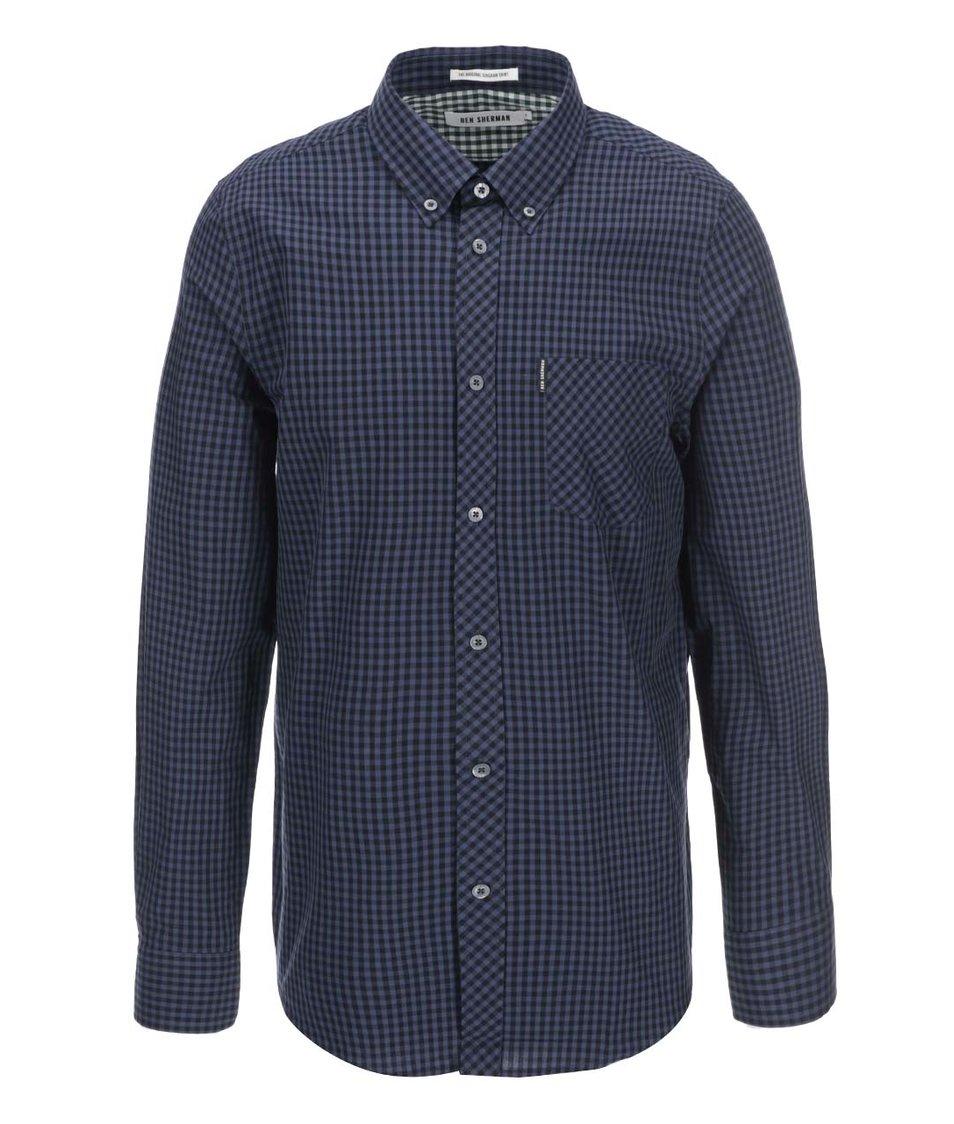 Tmavě modrá kostkovaná košile Ben Sherman