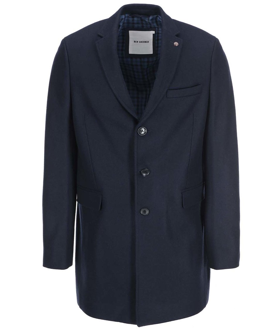 Tmavě modrý delší kabát Ben Sherman