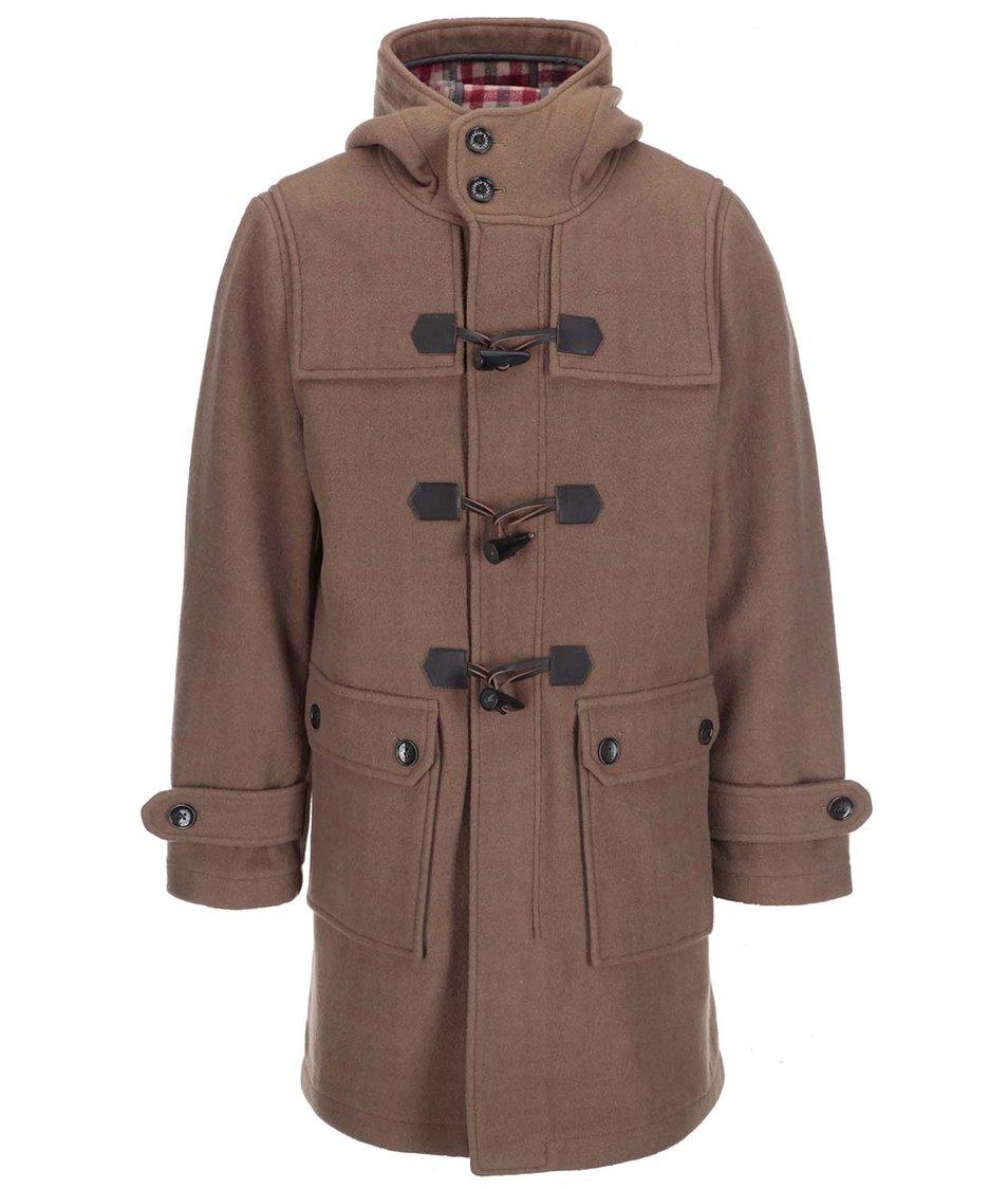 Hnědý kabát se zapínáním na olivky Ben Sherman