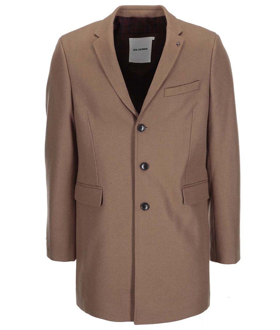 Světle hnědý delší kabát Ben Sherman