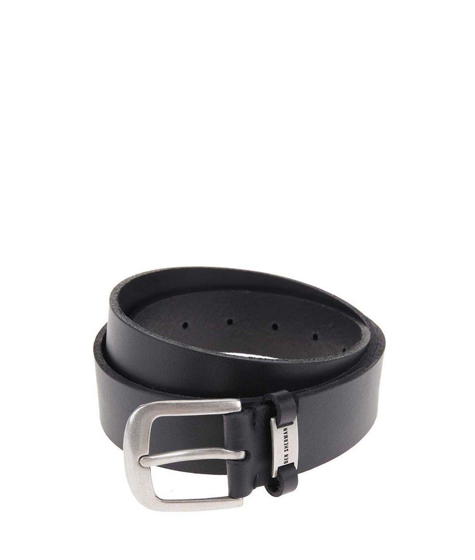 Černý kožený pásek Ben Sherman