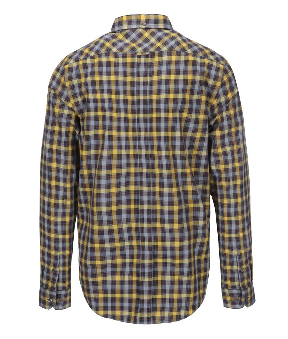 Šedo-žlutá kostkovaná košile Ben Sherman