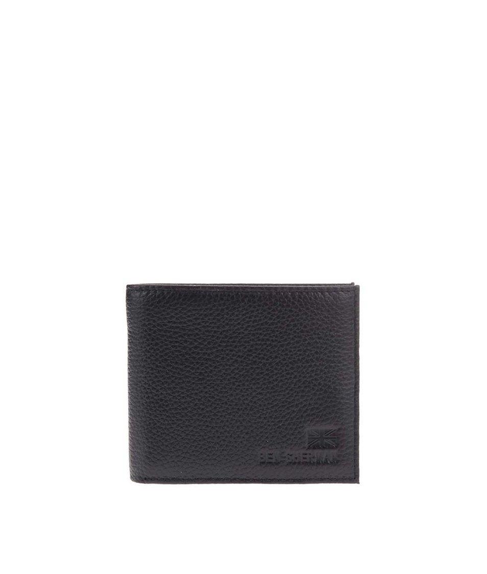 Černá kožená peněženka Ben Sherman