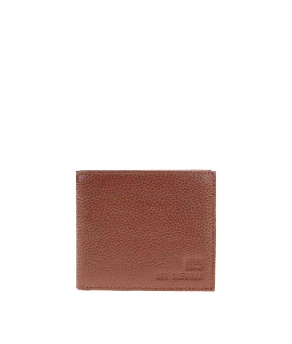 Hnědá kožená peněženka Ben Sherman