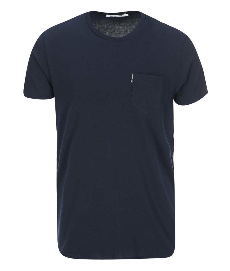 Tmavě modré triko s náprsní kapsou Ben Sherman