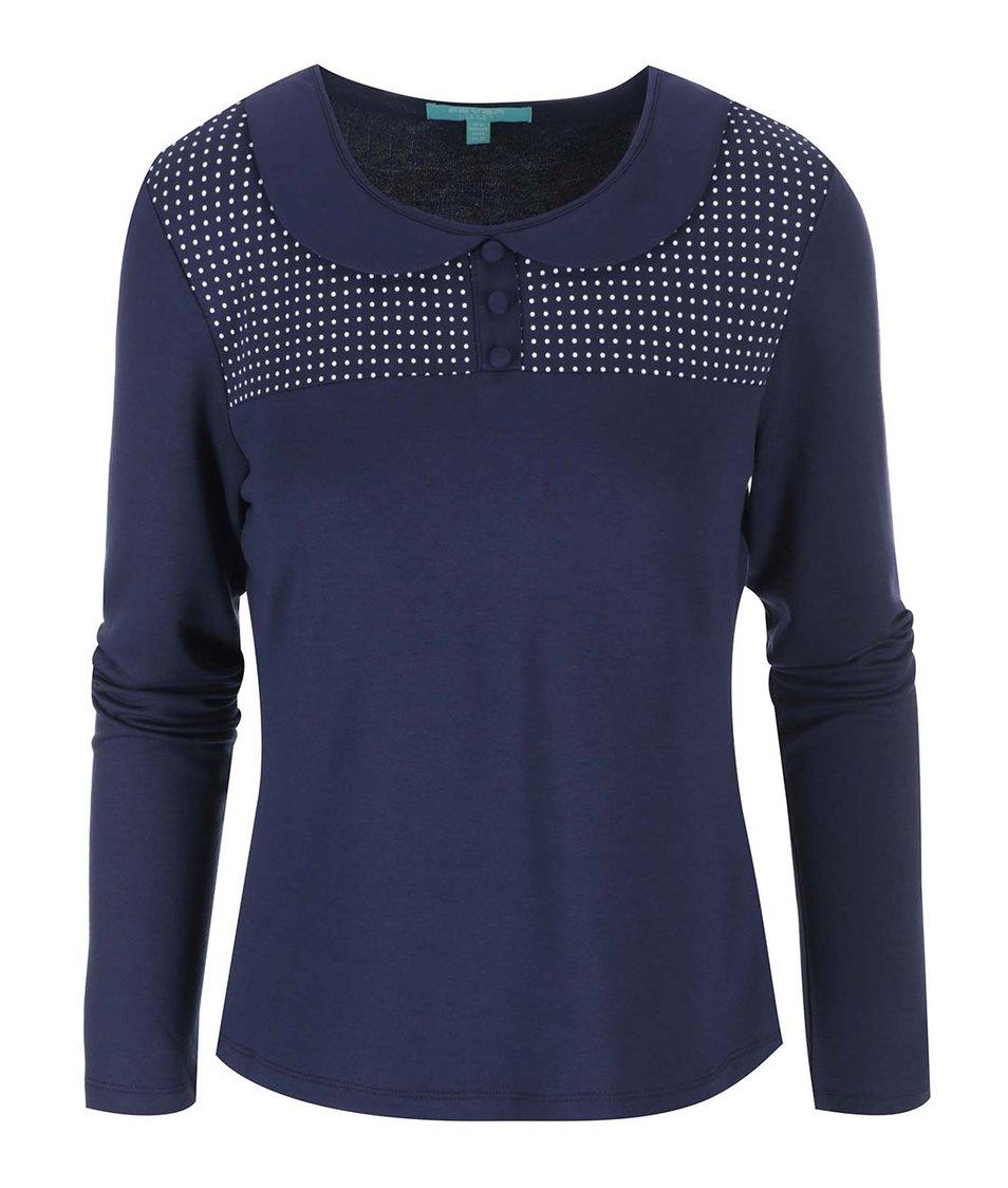 Modré tričko s puntíky Fever London Exeter