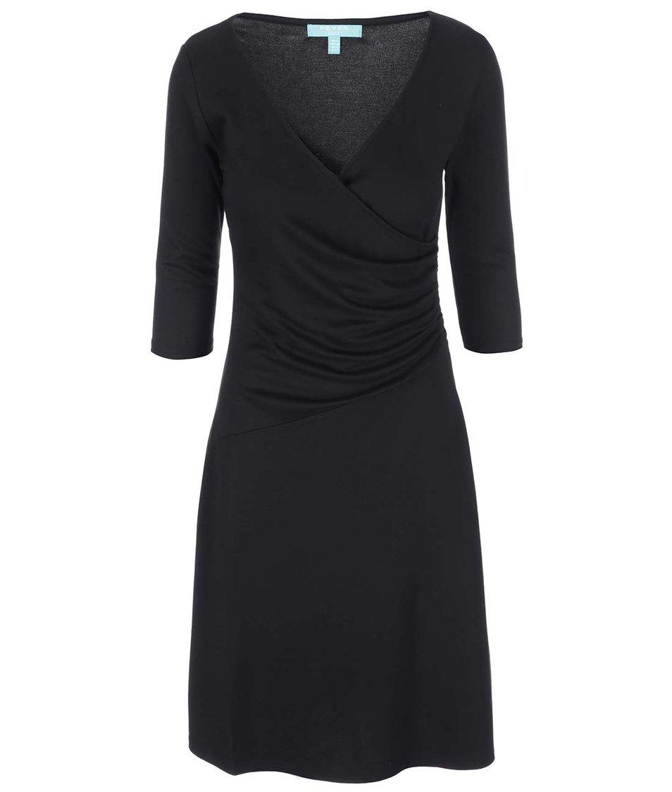Černé šaty s jemným řasením Fever London Bussell