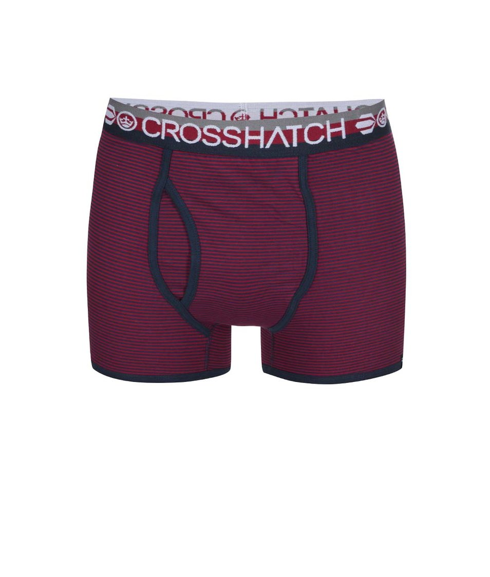 Sada tří modro-červených boxerek Crosshatch Tirian