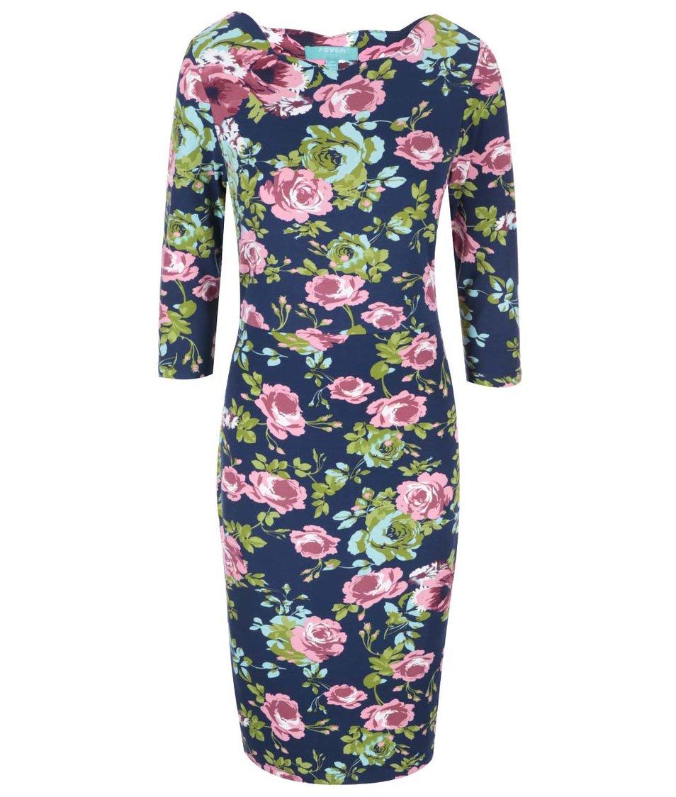 Květované pouzdrové šaty Fever London Guinevere