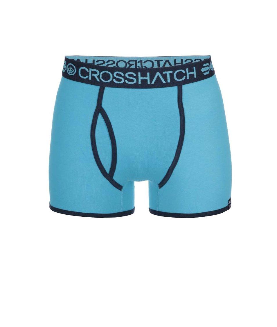 Sada dvou modrých boxerek se vzorem Crosshatch Draughts
