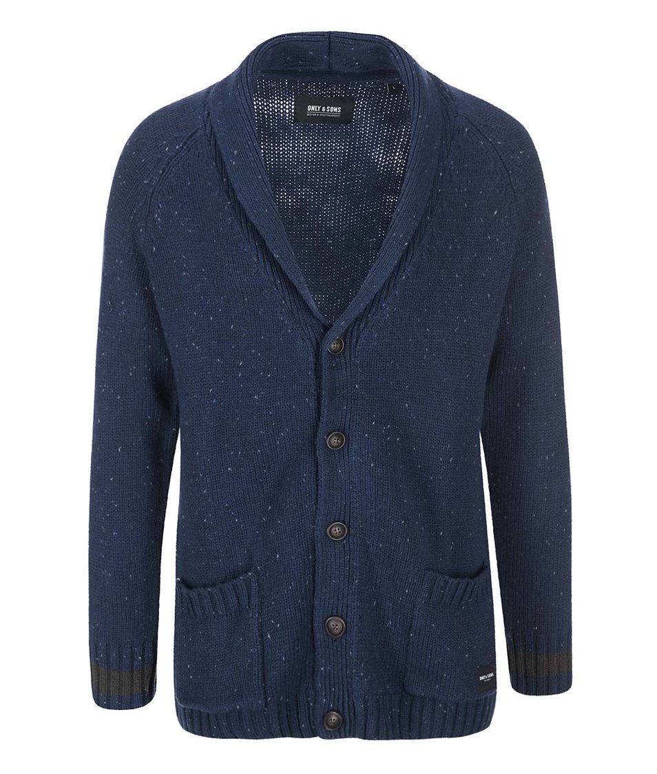 Modrý cardigan ONLY & SONS Gareth
