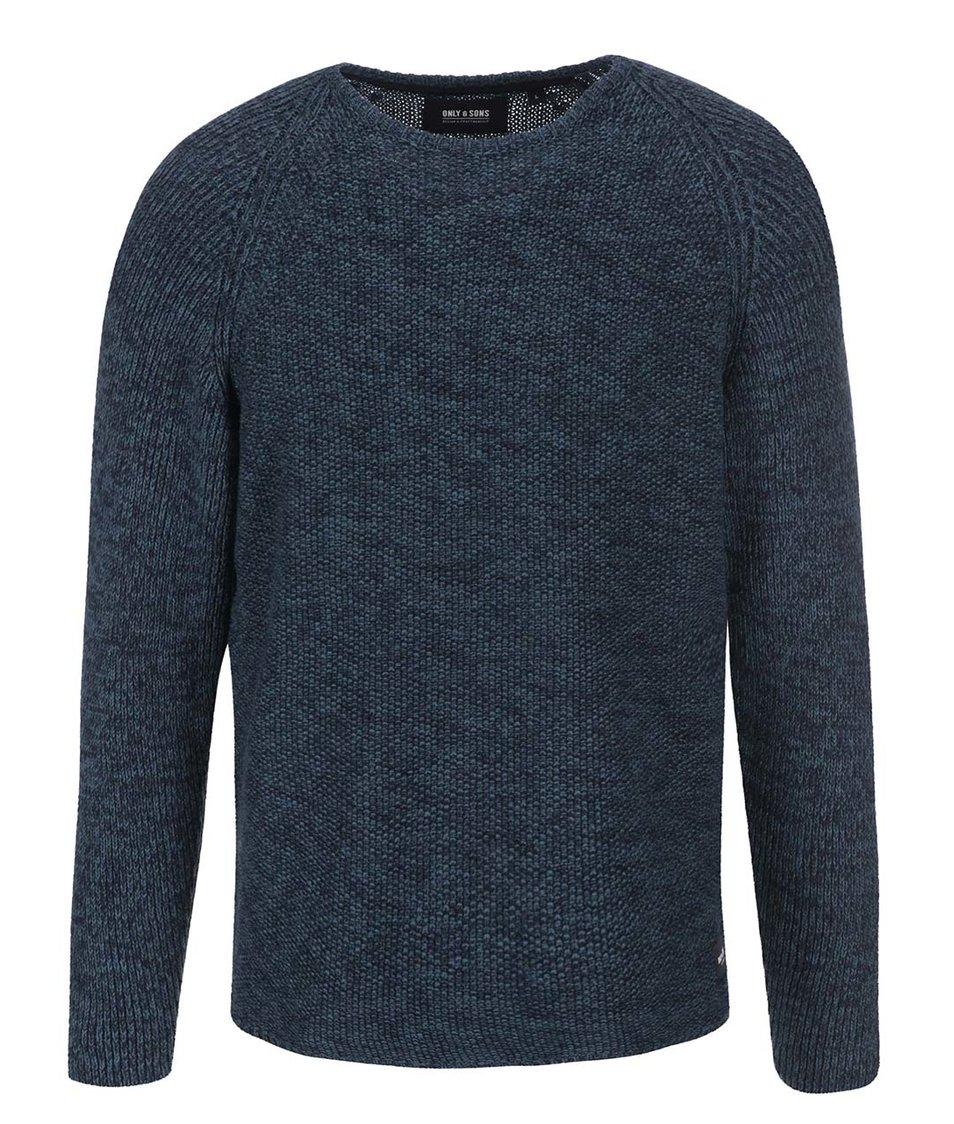 Černo-modrý žíhaný svetr ONLY & SONS Bram