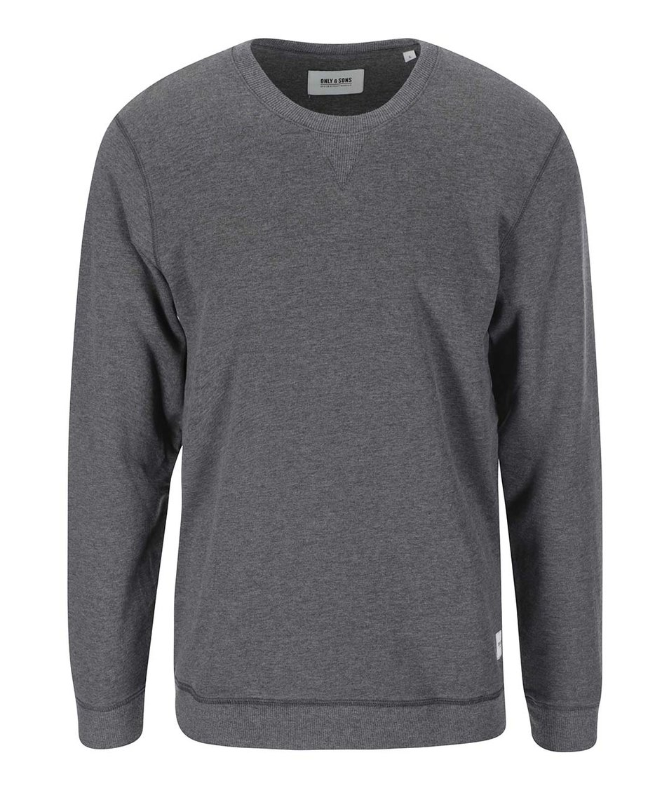 Tmavě šedý svetr ONLY & SONS Fanu