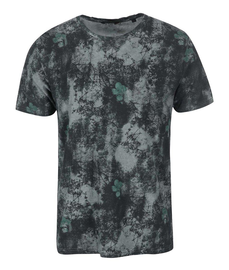 Šedo-zelené triko s potiskem ONLY & SONS Jerrod