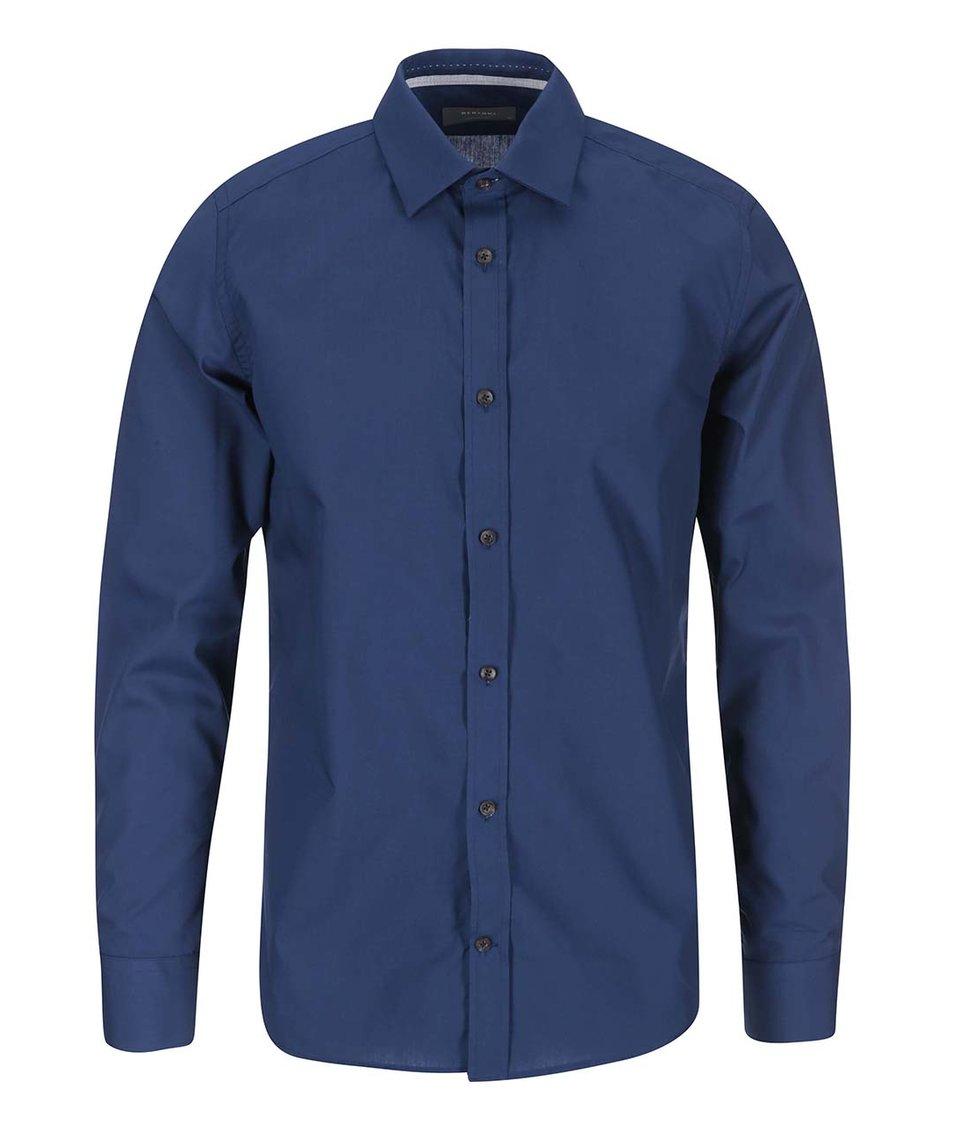 Modrá klasická košile Bertoni Slim Fit