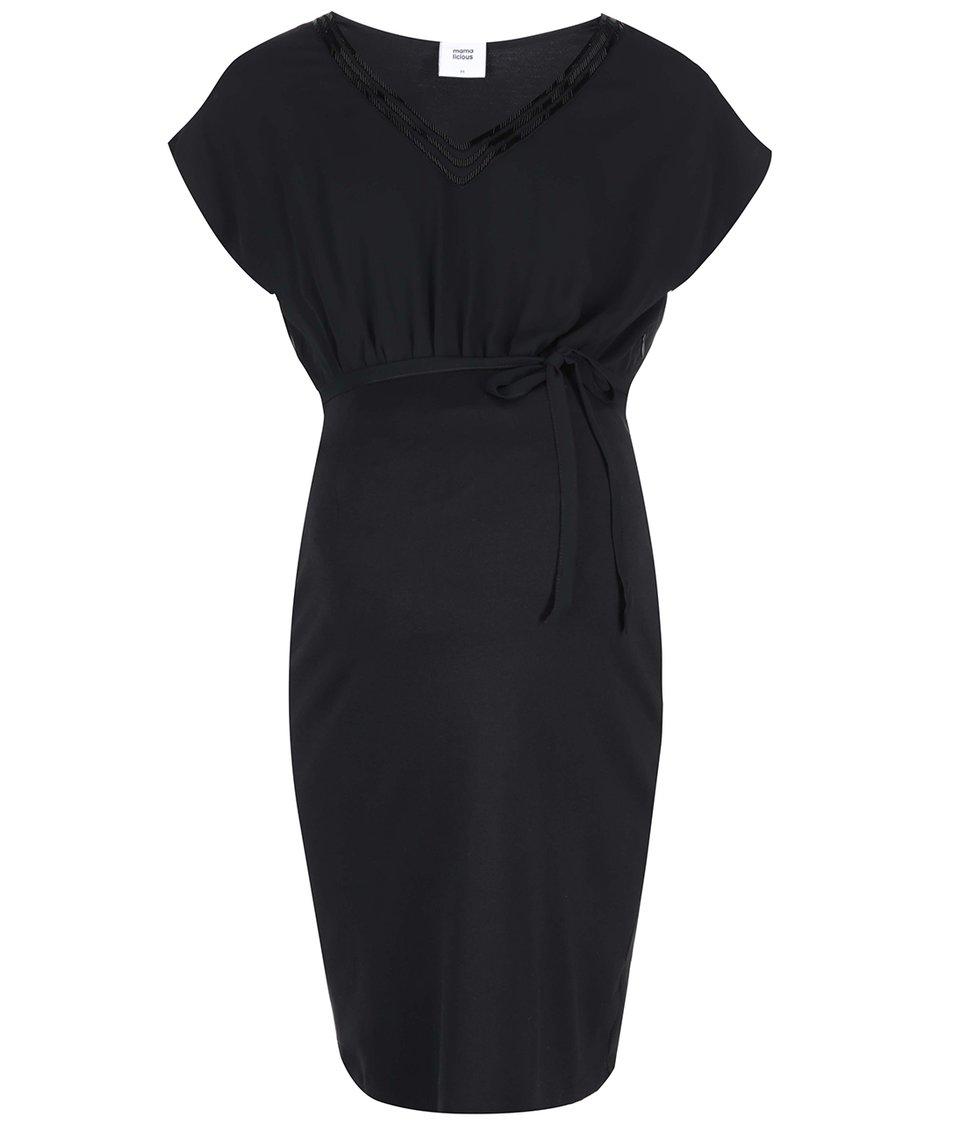 Černé volnější těhotenské šaty Mama.licious Olly