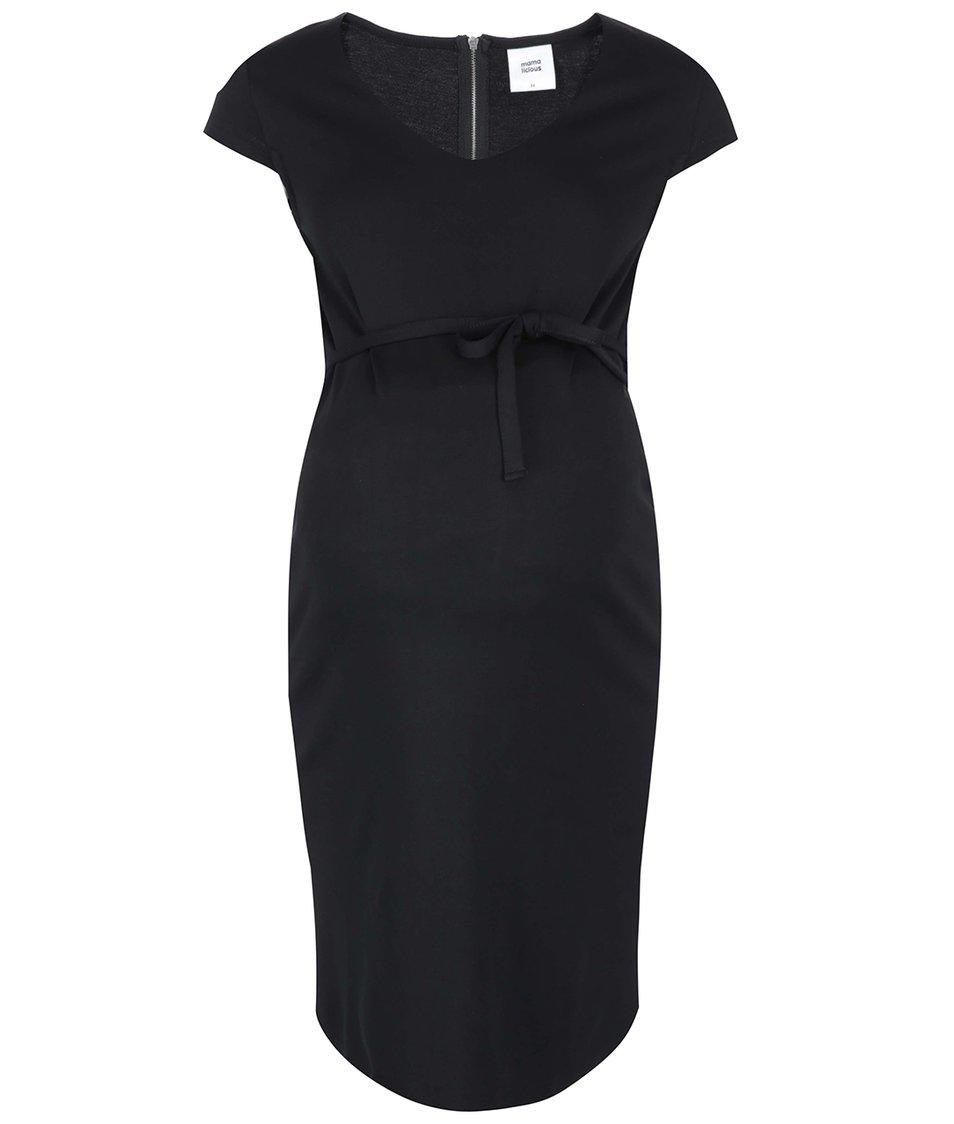 Černé těhotenské šaty Mama.licious Blackie
