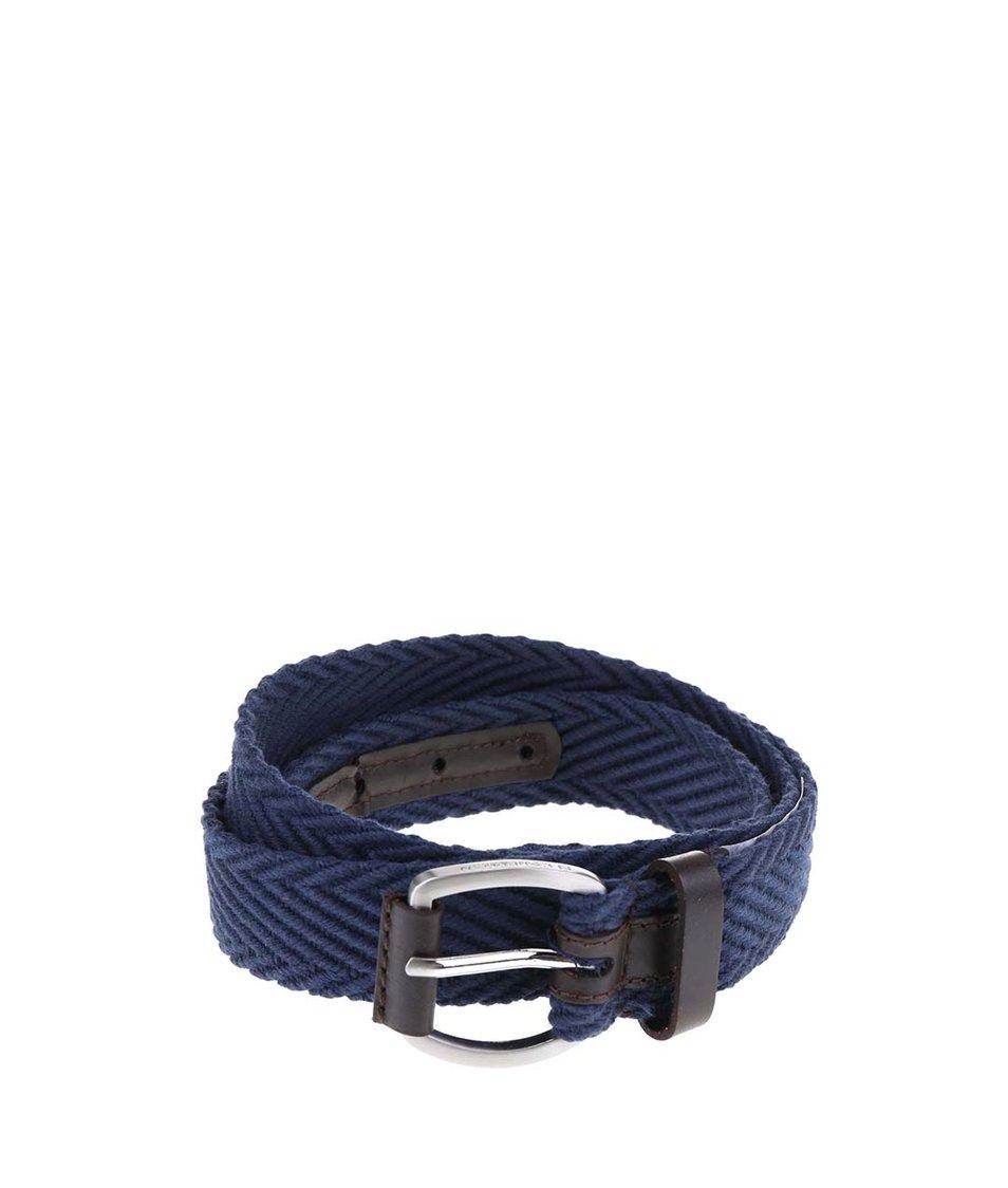 Tmavě modrý pásek s koženými detaily Ben Sherman