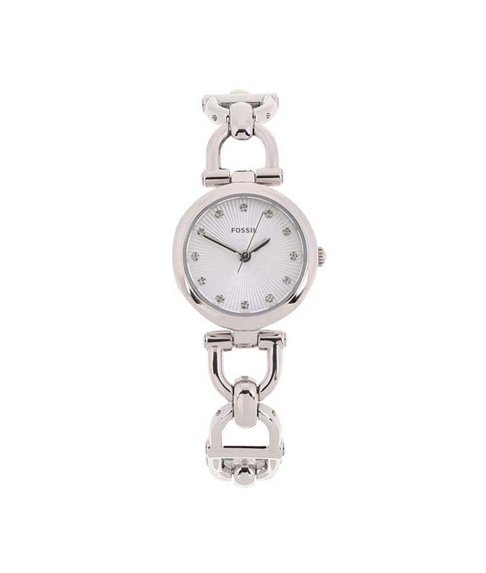 Dámské hodinky ve stříbrné barvě Fossil Olive