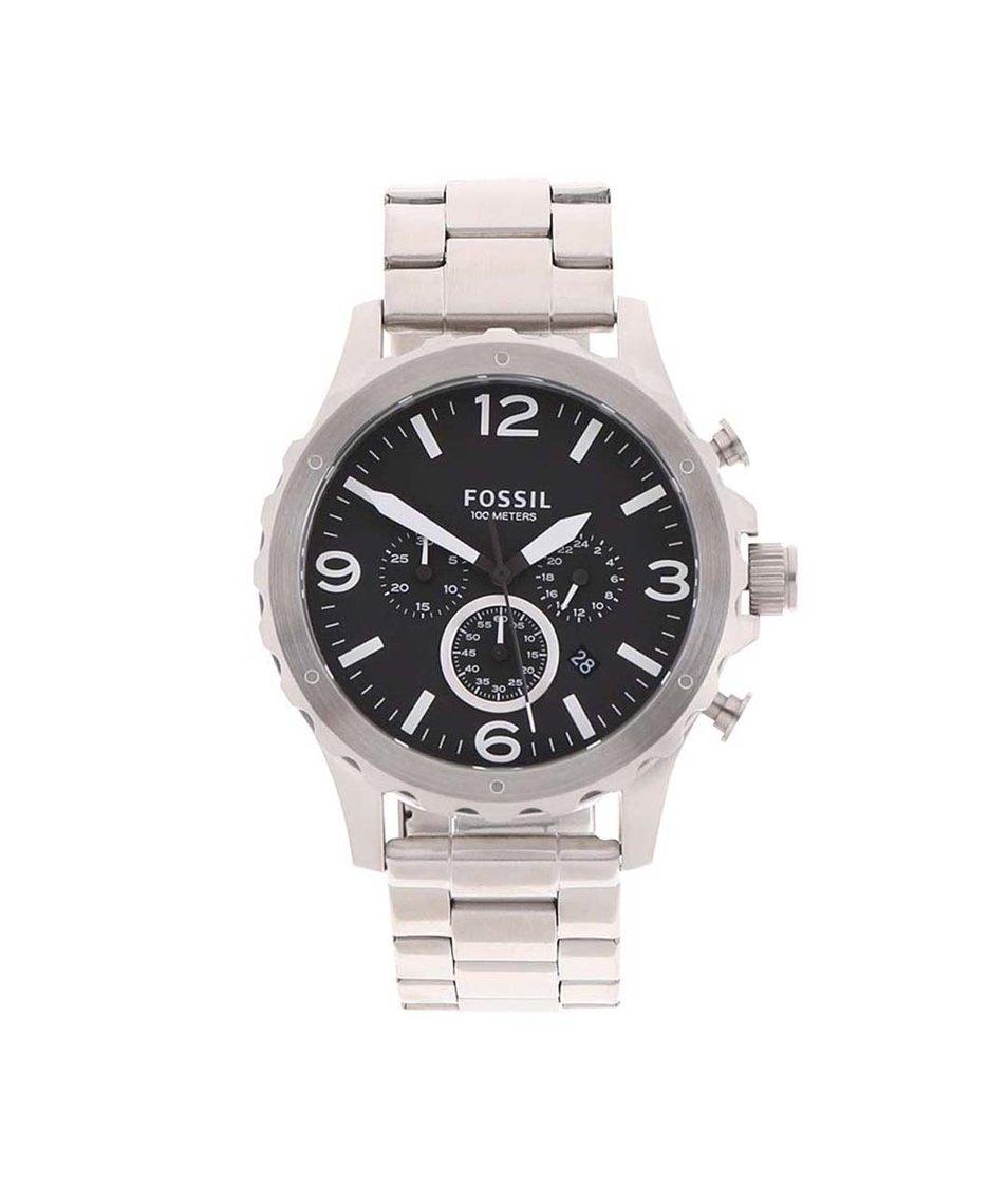Pánské hodinky ve stříbrné barvě Fossil Nate