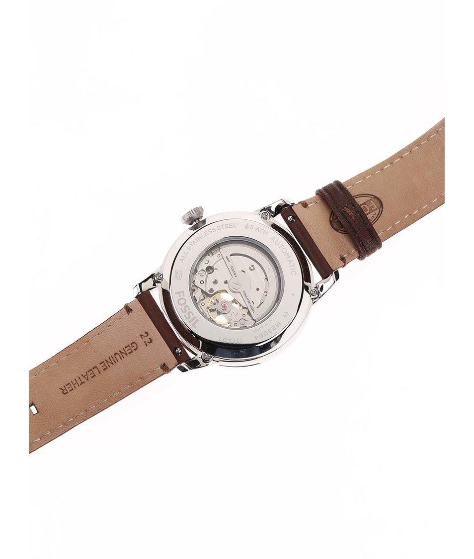 Žluto-hnědé pánské hodinky Fossil Townsman