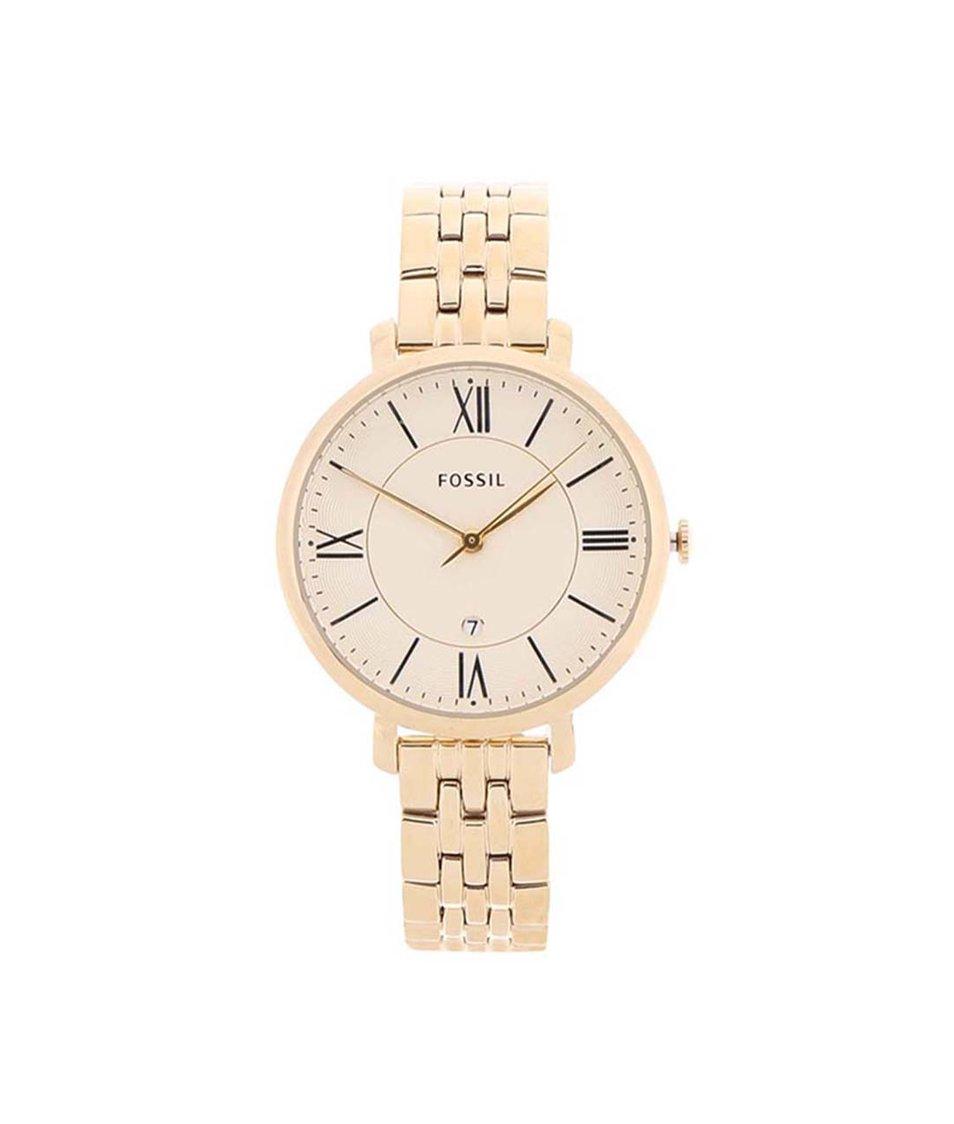 Dámské hodinky ve zlaté barvě Fossil Jacqueline