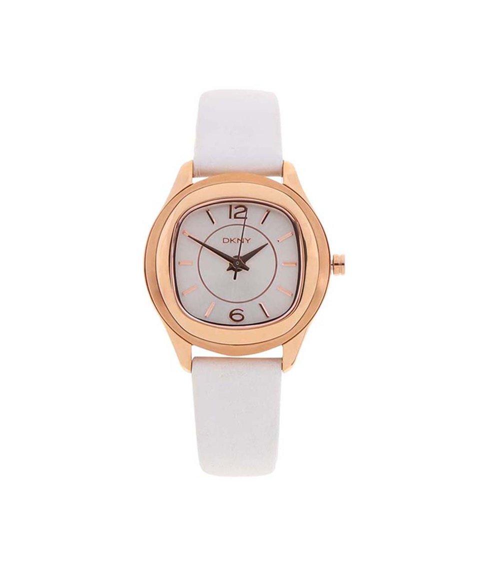 Růžovo-bílé dámské hodinky DKNY Tone