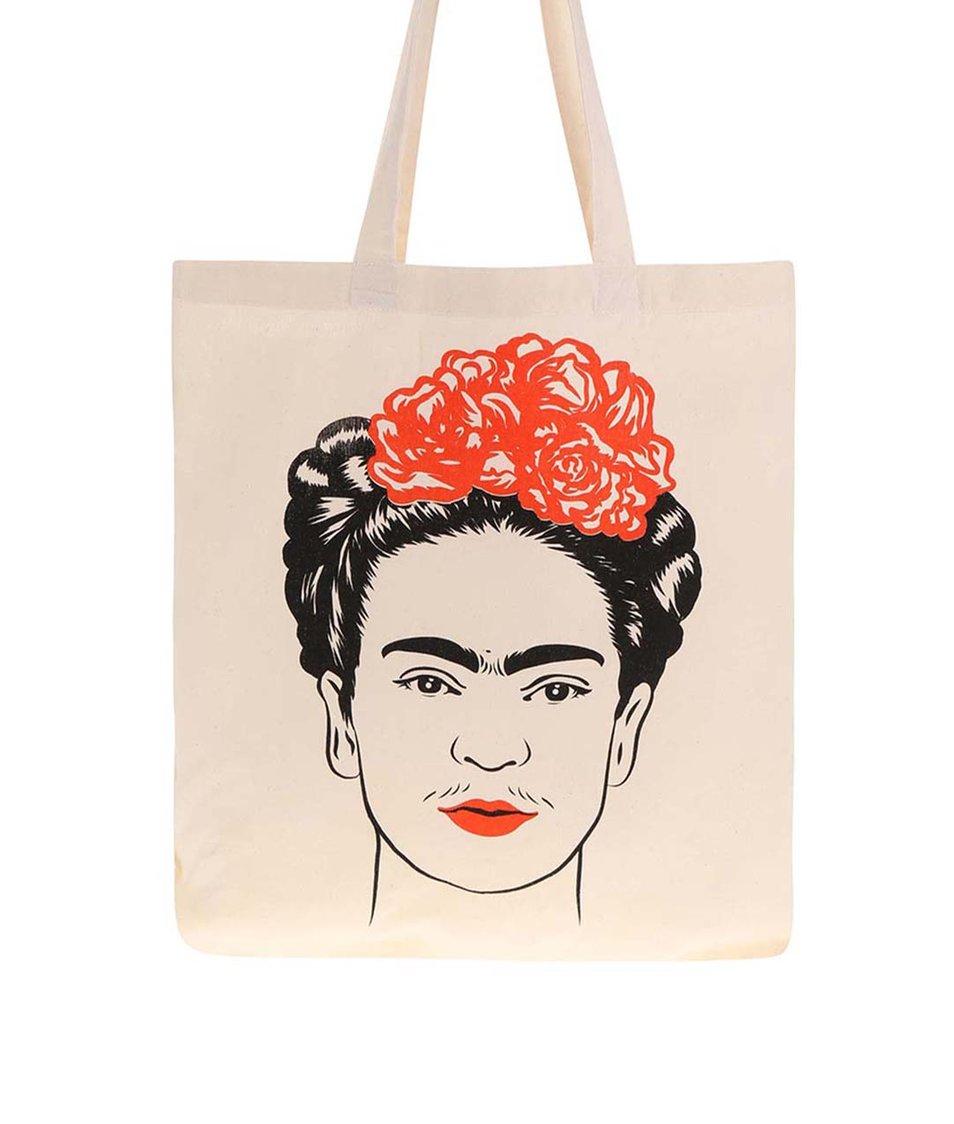 Krémová plátěná taška s potiskem ZOOT Originál Frida