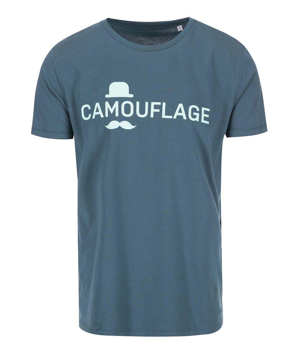 Tmavě zelené pánské triko s mentolovým potiskem ZOOT Originál Camouflage
