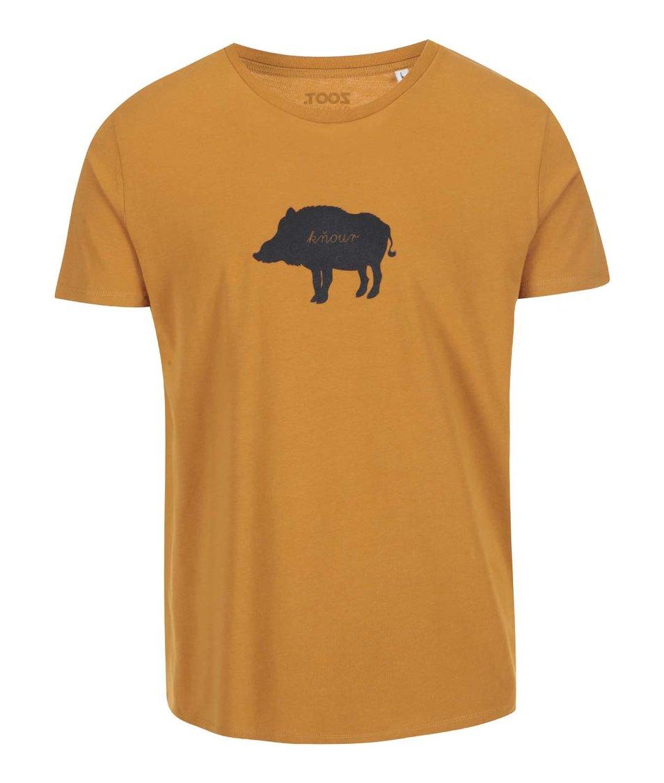 Hnědé pánské triko ZOOT Originál Kňour
