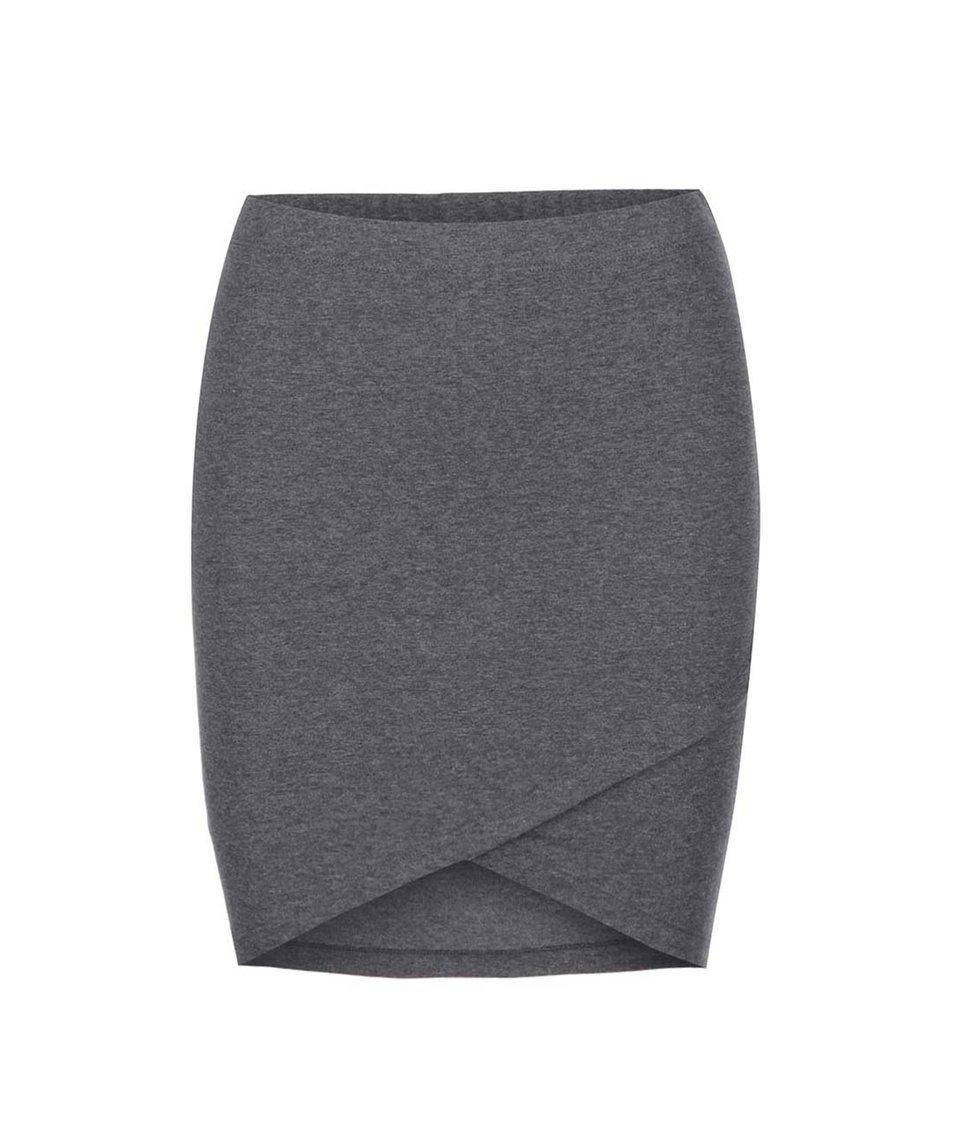 Tmavě šedá pouzdrová sukně ONLY Iso