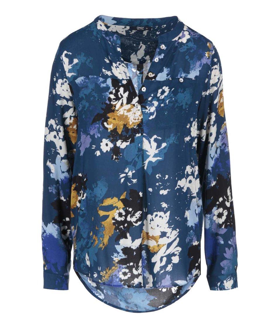 Modrá květovaná košile ONLY Fallow