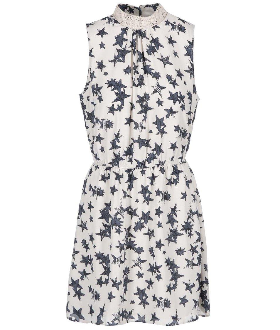 Béžové šaty s potiskem hvězd ONLY Tamina