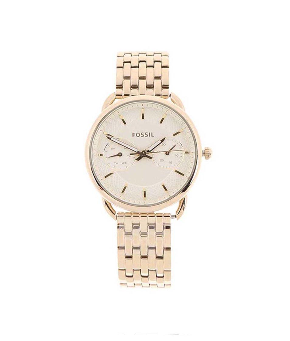 Dámské hodinky ve zlaté barvě Fossil Tailor