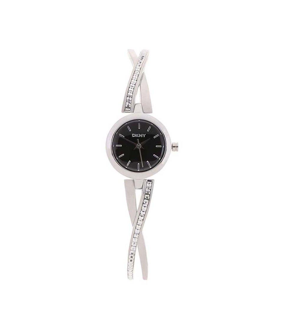 Dámské hodinky ve stříbrné barvě DKNY Crosswalk
