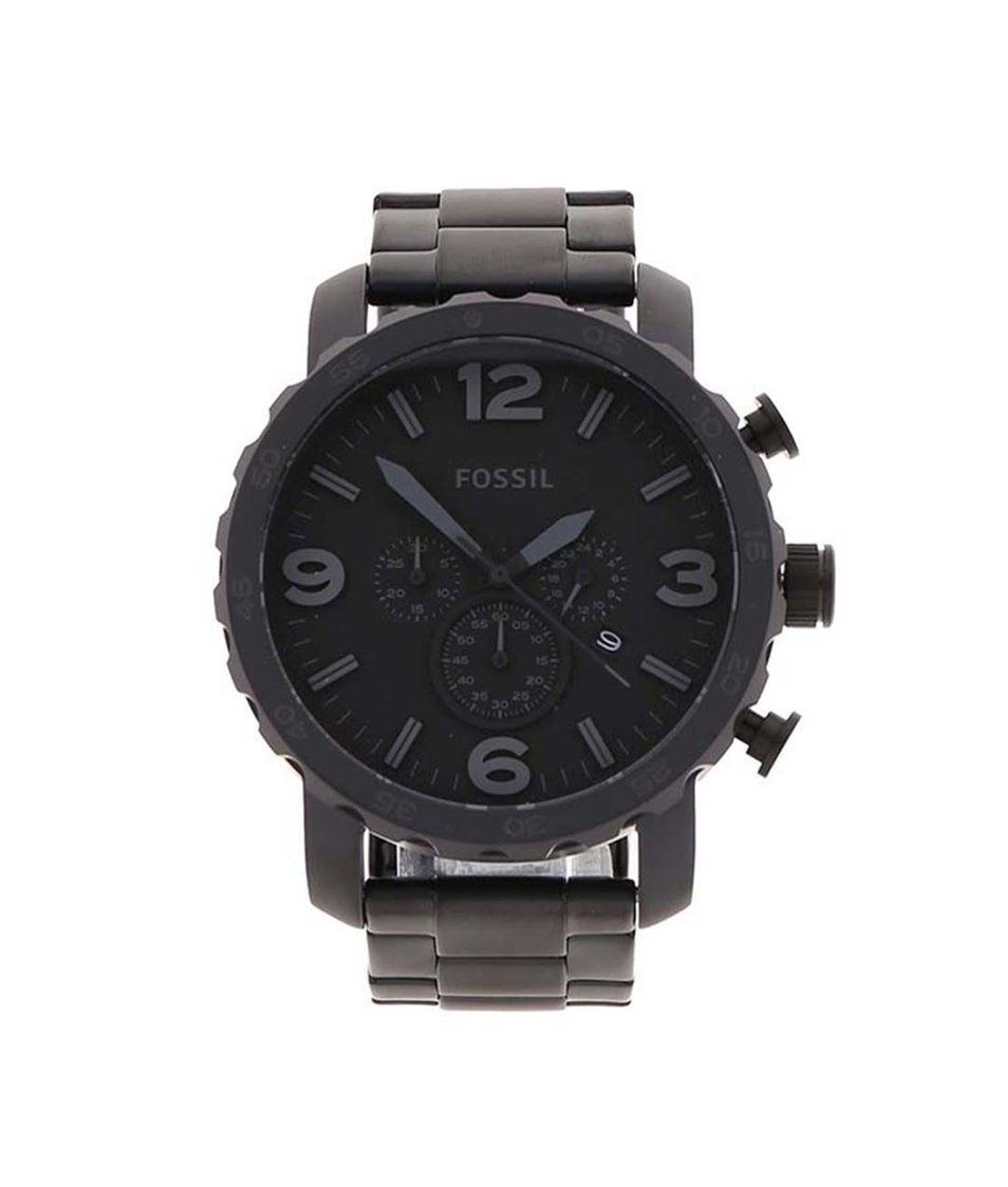 Černé pánské hodinky Fossil Nate