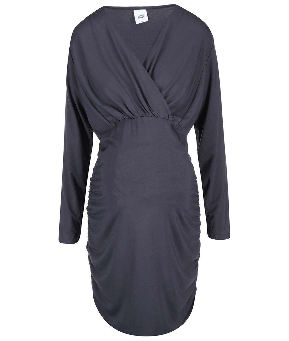Tmavě šedé těhotenské šaty Mama.licious Zigga