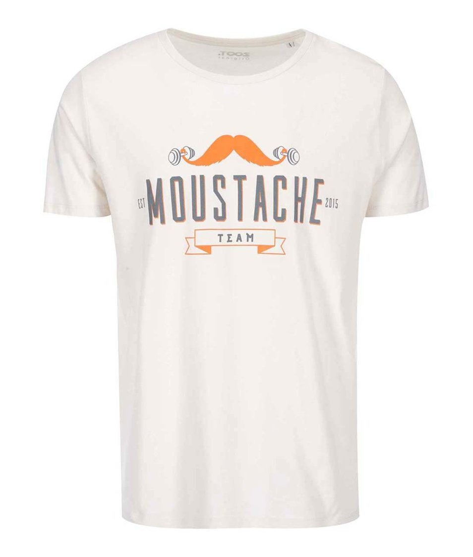 Krémové pánské triko ZOOT Originál Moustache Team
