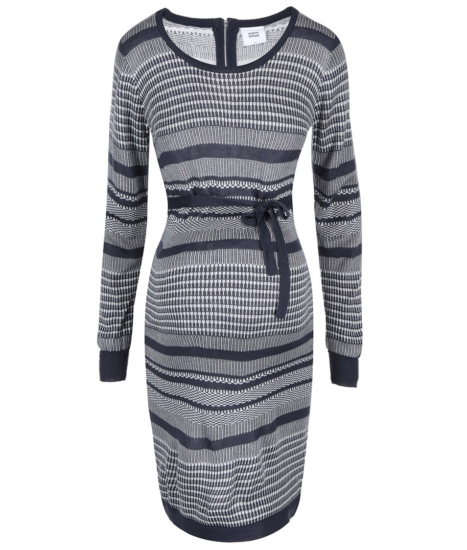 Bílo-modré vzorované těhotenské šaty Mama.licious Hanny