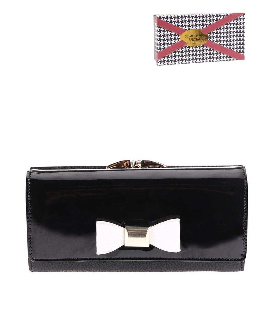 Černá peněženka s bílou mašlí Something Special by Moon