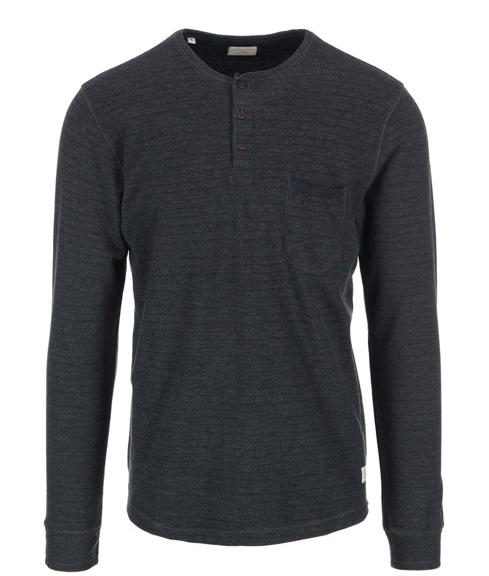 Tmavě šedé triko s dlouhým rukávem Selected Duo