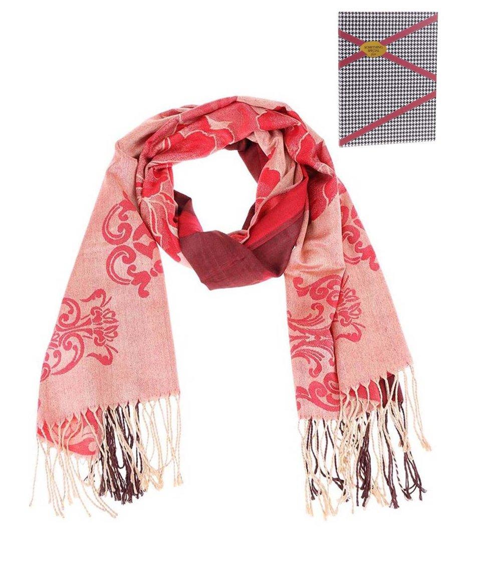 Červený velký šátek se vzory Something Special by Moon