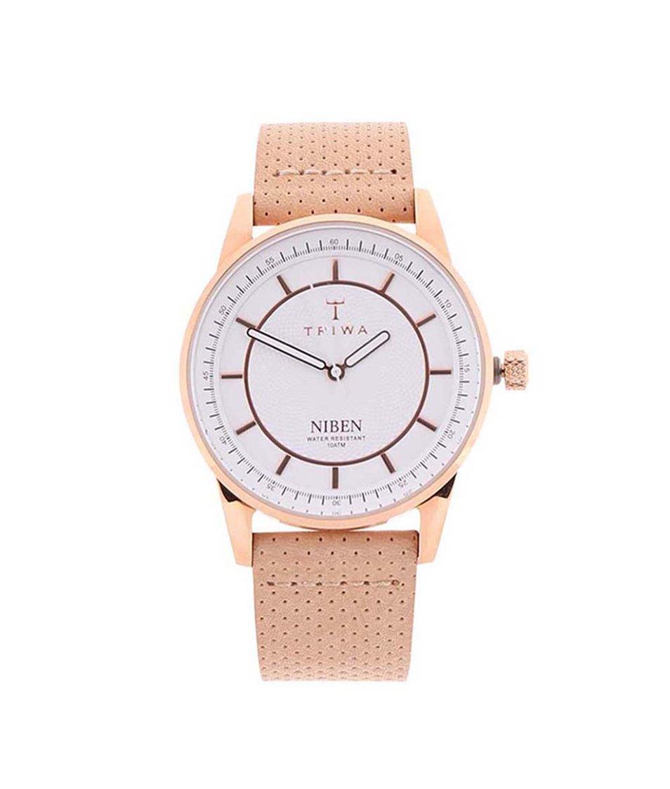 Béžové unisex kožené hodinky TRIWA Niben