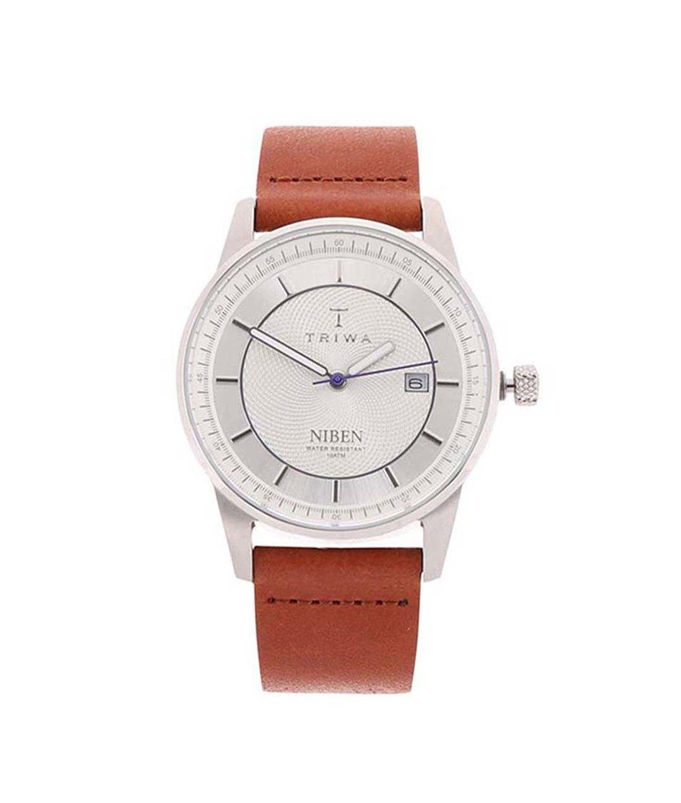 Hnědé kožené unisex hodinky TRIWA Niben